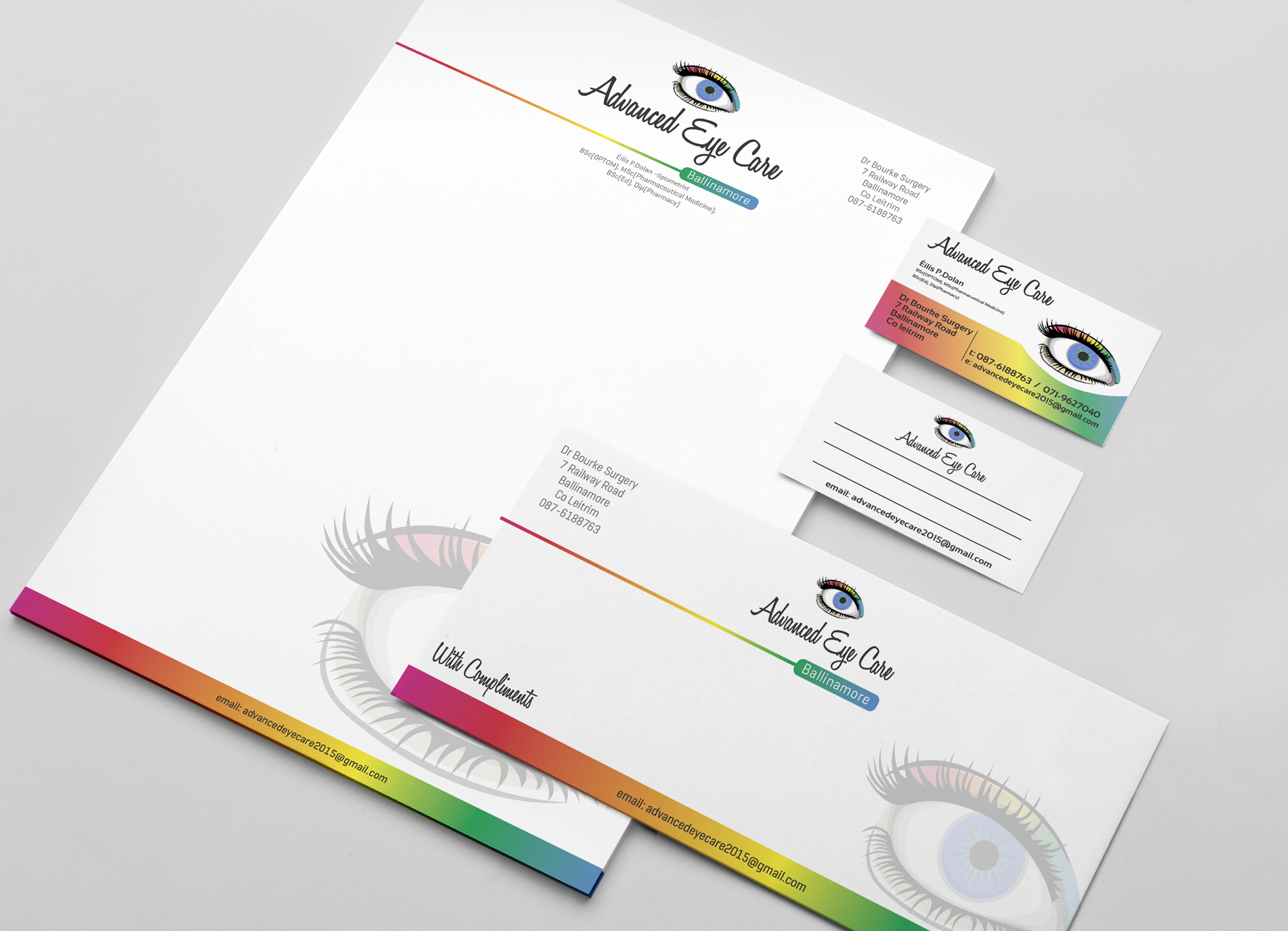 Stationery business cards compliment slips letterheads print business stationery business card letterhead printers in sligo reheart Gallery